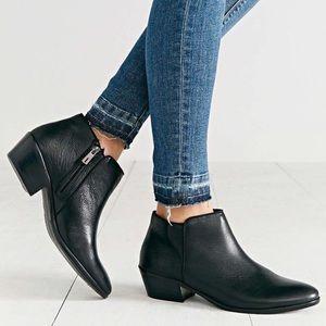 Sam Edelman Petty Bootie Black Leather 8.5 M